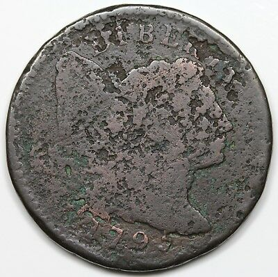 1795 Liberty Cap Large Cent, Lettered Edge, AG detail