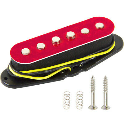 1 Pieces Red Pearl Electric Guitar Parts Neck Single Coil Pickup Replacement