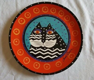 Laurel Burch Cat Plate Red and Black