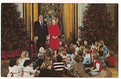 PRESIDENT RONALD & Nancy REAGAN White House CHRISTMAS Children 1981 POSTCARD