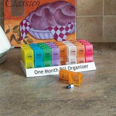 Aidapt One Month Pill Organizer Tablet Container Plastic Box 32 Brightly Colored