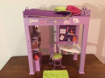 Retired 2011 American Girl McKenna Loft Bed and Desk with Accessories