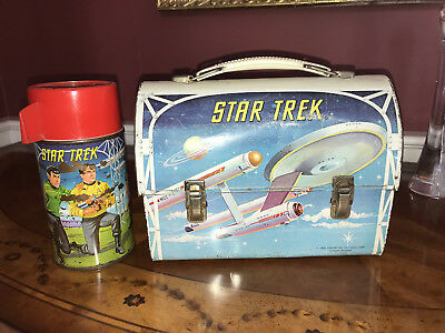 Vintage 1968 Star Trek Dome Lunchbox with Thermos