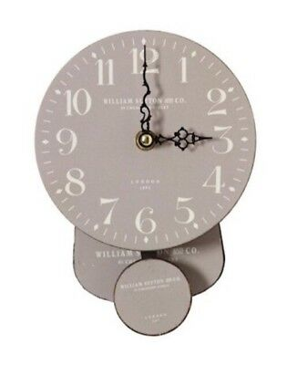 Small Grey Tempo Grey/White Vintage Hanging Wall Clock Retro. Kitchen Lounge