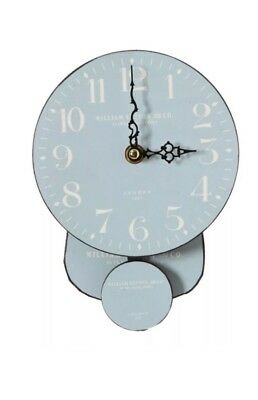 Small Blue Tempo Blue/White Vintage Hanging Wall Clock Retro. Kitchen Lounge