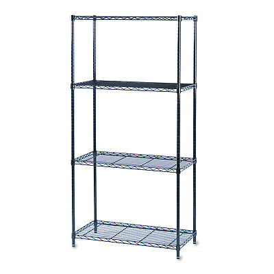 Safco Commercial Wire Shelving Four-Shelf 36w x 18d x 72h Black 5276BL