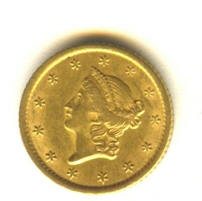1851 O $1 Gold Type 1 MS In Grade Scarce New Orleans Minted Gold Type Coin