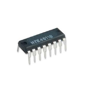 NTE NTE4511B Integrated Circuit CMOS BDC-to-Seven-Segment, Latch Decoder Driver
