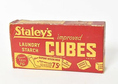Vintage Staley's Laundry Starch Cubs In Original Unopened Box