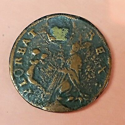 1670 New Jersey St. Patrick Farthing Colonial Coin Rare!