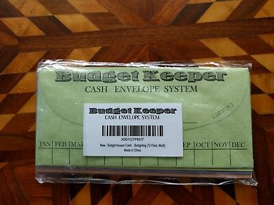 Budget Keeper Cash Envelope System for Budgeting and Saving Money 12 Pack multi