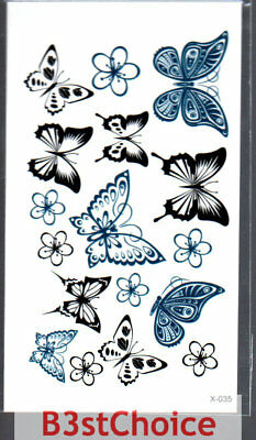 Small Fresh Butterfly flowe Face Temporary Tattoo Stickers Body Art