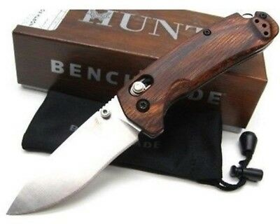 * New Benchmade Hunt 15031-2 North Fork Axis Knife Dymondwood Handle Satin S30V