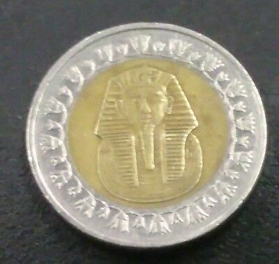 EGYPT - ONE EGYPTIAN King TUT Circulated One Pound Coin