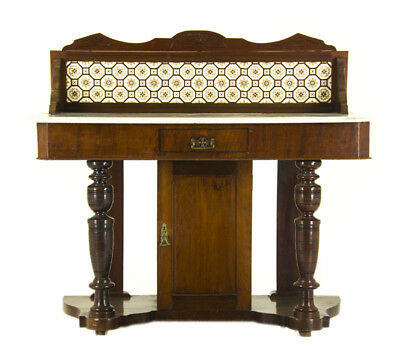 Antique Washstand | Marble Top Washstand | Mahogany | Scotland 1870 | B824
