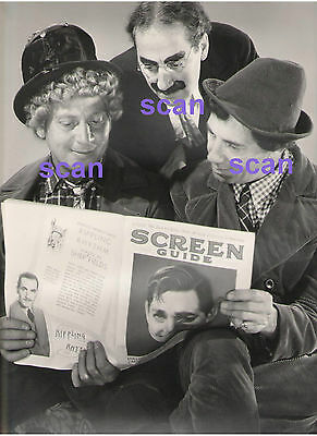Harpo Groucho Chico Marx Brothers Clark Gable On Cover Vintage 11X14 Photo