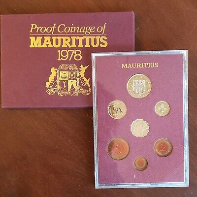 1978 Mauritius Proof Coin Set