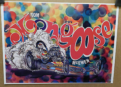 1968 Tom Mongoose Mcewen Dodge Boys Dragster Drag Racing Car Craft Mopar Poster