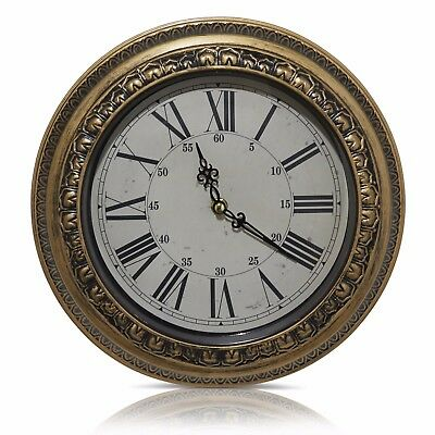 Wall Clocks 12 Inches Classic Antique Finish Look Quartz For Home & Ideal Gift