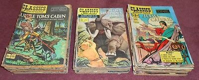1930's CLASSICS ILLUSTRATED COMIC BOOK LOT OF 57 DIFFERENT