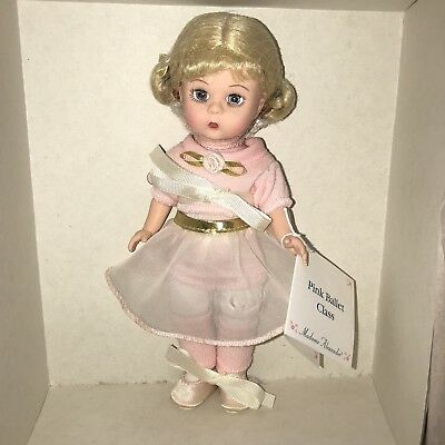 """Madame Alexander PINK BALLET CLASS 8"""" DOLL  NEW IN BOX"""