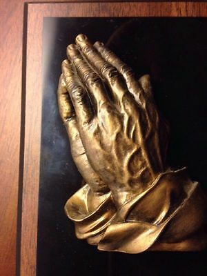 Religious Praying Hands Wall Plaque