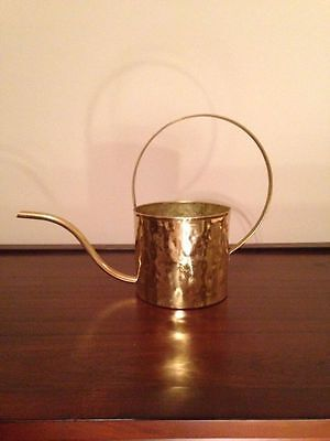 Vintage Hammered Brass Decorative Plant Watering Can Pot/ ONLY 1 TO SELL!