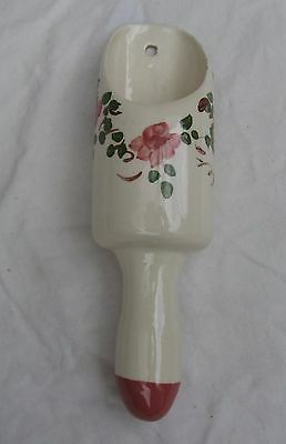 Exquisite Antique Hand Painted Scoop-Shaped Wall Pocket Vase W/signature Mark