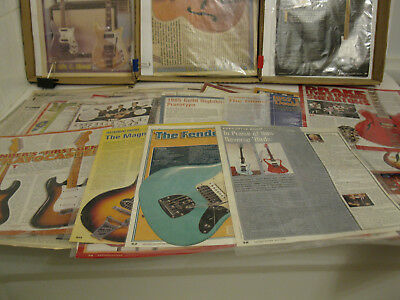 Guitar, electric.  Clippings trove (84 articles)