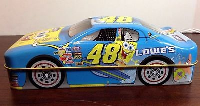 Collectable Lowes Nickelodeon Sponge Bob Squarepants Racing Car Tin with Cards