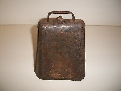 """Vintage Antique? American Cow Bell """"2 R&E MFG CO N.Y"""" Possibly Russell & Erwin"""
