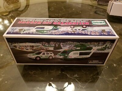 2012 Hess Christmas Helicopter And Rescue Truck New In Box
