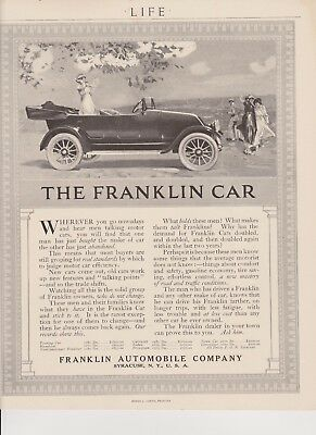 Vintage 1917 Print Ad For The Franklin Automobile Company of Syracuse NY