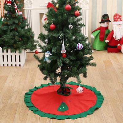 Christmas Tree Skirt Apron Base Cover Stands Snowman Xmas Holiday Decor Ornament