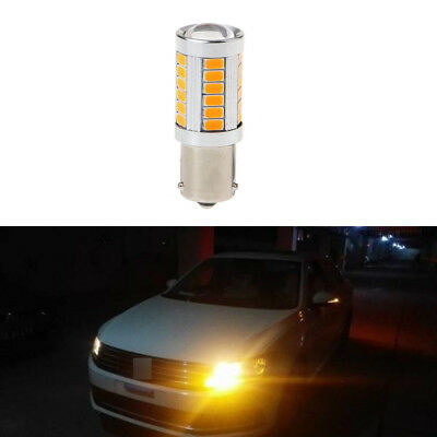 1PC Car LED Turn Signal Light DC 12V BAU15S PY21W 150 Degree 33 SMD 5630 Yellow