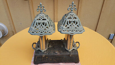 Antique victorian parlor heater with great floral detailing