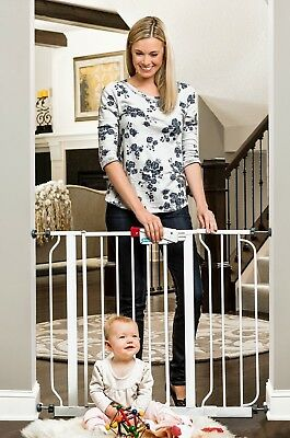 Regalo Easy Open Walk Thru Pet Pets Baby Babies Child Proof Metal Safety Gate
