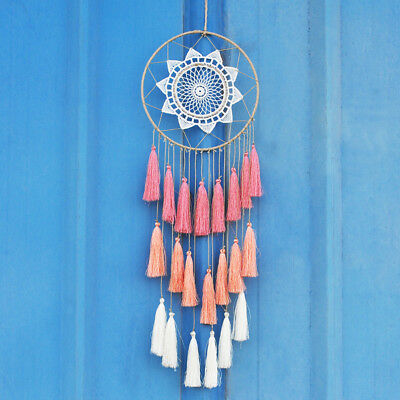 Handmade Lace Dream Catcher With Tassel Car Or Wall Hanging Decoration Ornaments
