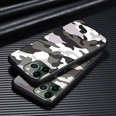 Army Camo Green Soft Rubber Case Cover For iPhone 11 Pro 8 Plus XS MAX XR 6S 7 6