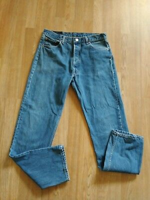 Vintage Levis 501 Men's Button Fly Jeans Red Tab Blue Wash Sz 36X34 Made In Usa