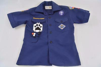 Boy Scouts of America Youth SMALL Short Sleeve Blue Shirt Uniform Khaki