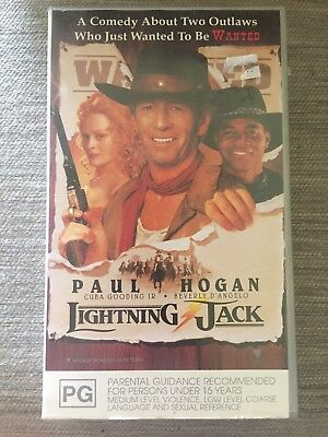 Lightning Jack VHS Video Tape Paul Hogan