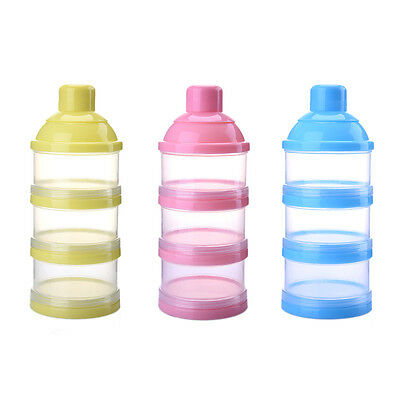 3 Layer Milk Powder Formula Dispenser Box Kids Baby Infant Feeding Container Pot
