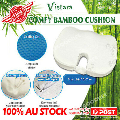 Whole Memory Foam Bamboo cooling gel Coccyx Cushion Posture Hip Support Car Seat