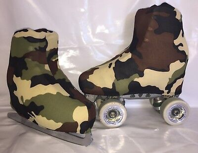 Army Browns  Boot Covers for RollerSkates and Ice Skates  S,M,L