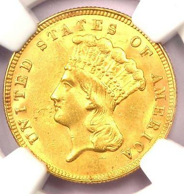 1888 Three Dollar Indian Gold Coin $3 - NGC Uncirculated Detail (UNC BU) - Rare!
