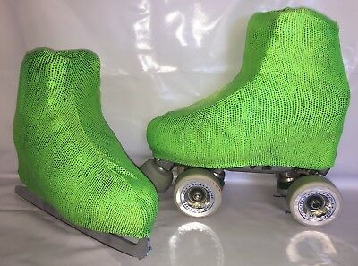 Green Sparkles Boot Covers for RollerSkates and Ice Skates  S,M,L
