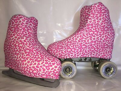Pink Animal Print Boot Covers for RollerSkates and Ice Skates  S,M,L
