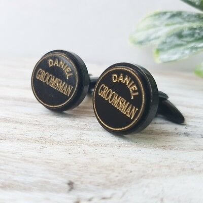 Personalised Wedding Cufflink Groom, Bestman, Father of the Bride, Groomsman Gif