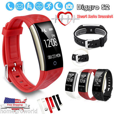 Diggro S2 Smart Heart Rate Bracelet Sport Tracker Sleep Monitor Call Reminder UK